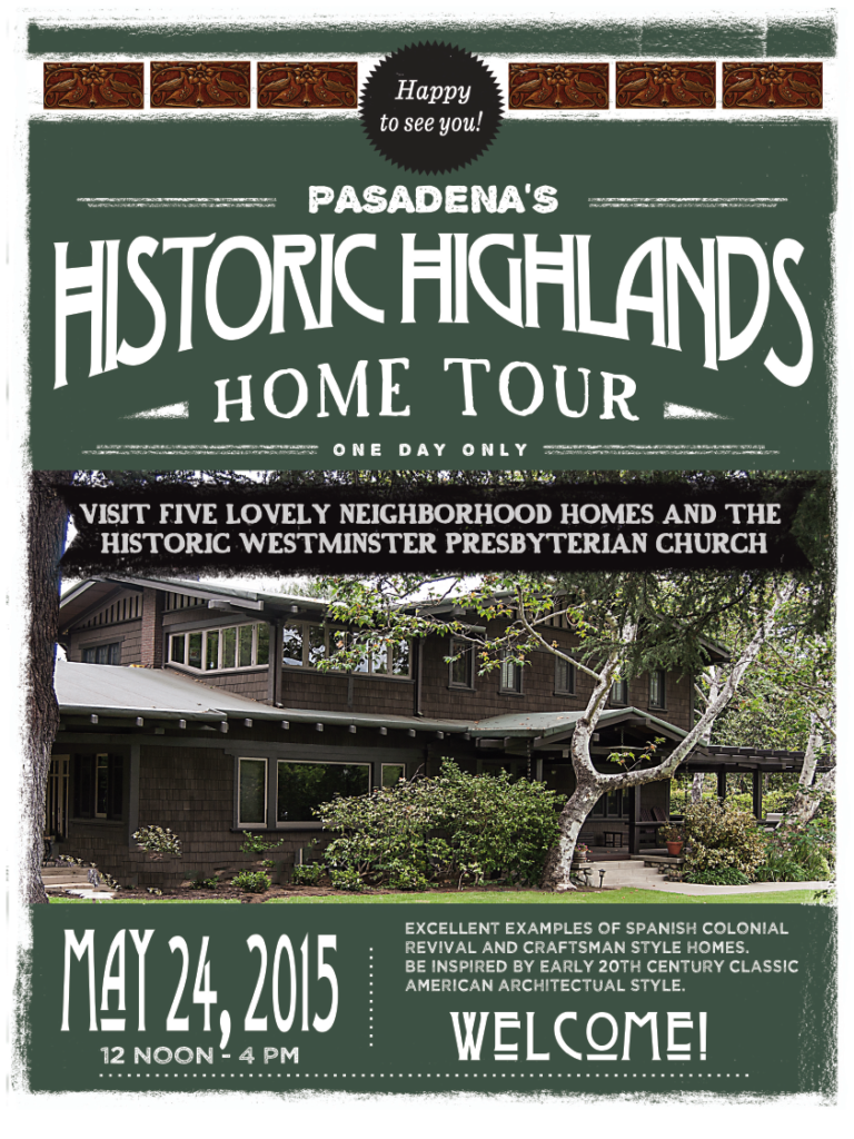 Historic Highlands Home Tour 2015 Brochure Cover 2015