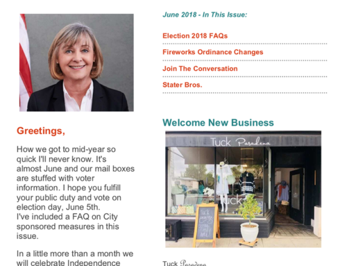 Pasadena District 2 June Newsletter