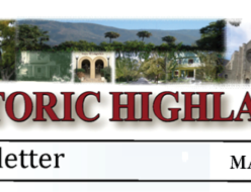 News for Historic Highlands May 2019